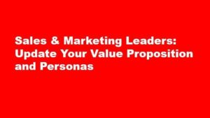 Update your value proposition